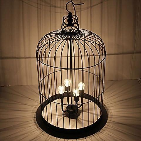 LIVY Creativo in ferro battuto birdcage Lampadario Lampada lampada da terra hotel ristorante caffetteria a (Ferro Battuto Tradizionale Lampada Da Terra)