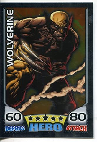 MARVEL HERO ATTAX RARE FOIL CARD #28 WOLVERINE