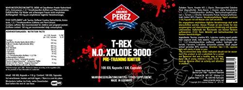 T-REX – NO-Xplode 3000 – Pre-Training Igniter – Hochdosierter Wirkstoffkomplex – 100 Giant Kapseln