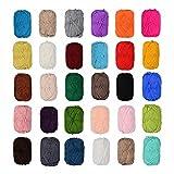 12 x 50 Gramm Bunt Wolle Baumwolle im Set,100% Cotton Wolle Stricken Häkeln Weben schwarz,blau,grau, rot ,grün, beige,braun etc Farben NICHT wählbar