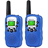 Proster Walkie Talkies 2 pcs Long Range Kids Walky Talky UHF 446MHz 8 Channels Two Way Radios with Bulit-in Torch and Call Alert