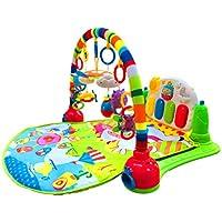 Surreal 3-in-1-Spielmatte für Babys mit Baby-Klavier, Spielmöglichkeiten, Musik und Beleuchtung Piano