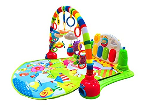 SURREAL 3 in 1 Baby Piano Play Gym PlayMat Music and Lights - Green