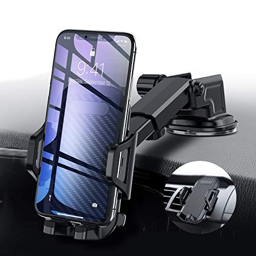 Handyhalter fürs Auto Handyhalterung Armaturenbrett Windschutzscheibe 3 In 1 Smartphone Halterung Kfz für iPhone XS X 8 7 6 Plus, Samsung Galaxy Note S10 S9 S8 S7,Huawei Mate 20 Pro und andere