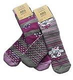 4 Paires Les chaussettes avec éponge, semelle antidérapante