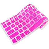 iBenzer - Macaron Serie Magenta Keyboard Cover Silicone Rubber Skin for Macbook Pro 13'' 15'' 17'' (with or without Retina Display) Macbook Air 13'' and iMac - Magenta MKC01RS