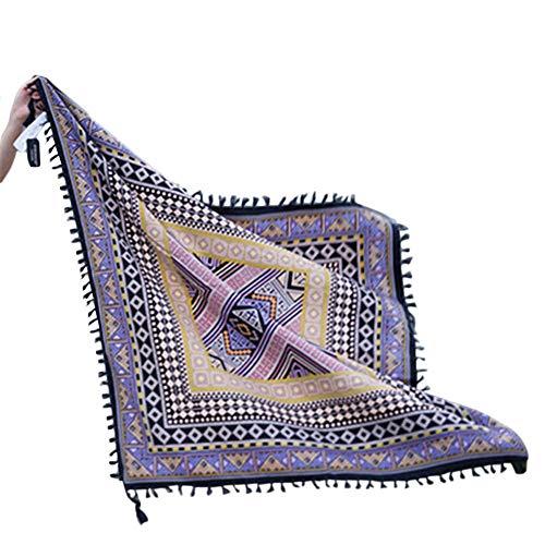 perfecthome Schal, Kirsch-Lee Strandtuch Seaside Schal großen quadratischen Schal Retro ethnischen Stil Sonnenschutz Schal für Frauen -