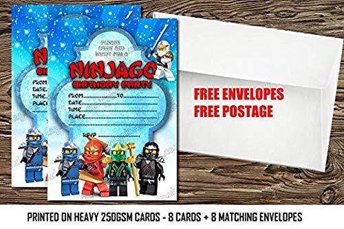 tstag Party Einladungen Superheld lädt Dick Karten + Umschläge ()