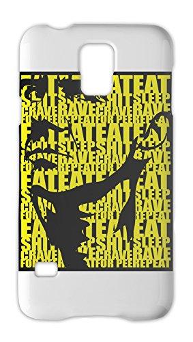 Eat Sleep Rave Repeat Poster Samsung Galaxy S5 Plastic Case