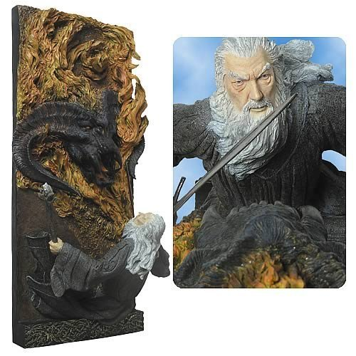 You Shall not Pass - Gandalf & Balrog Wall Plague - Sideshow Weta Polystone Wandrelief - Herr der Ringe (Sideshow-herr Der Ringe)