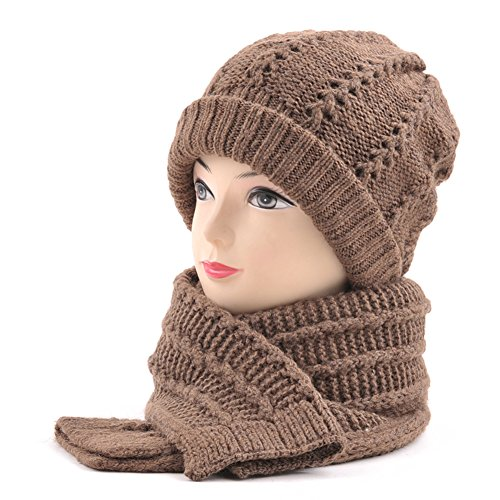 Cappello di lana calda spessa maschile in inverno/ sciarpa cappello/ vecchio orecchio maglia cappello-D Unica
