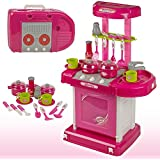 Shop & Shoppee Battery Operated Kitchen Super Set With Light And Sound + Carry Case For Kids