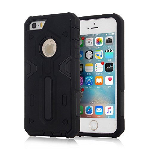 HYAIT® For IPHONE 5S/SE [CONTRAST TRIANGLE]Case Dual Layer Hybrid Armor Rugged Plastic Hard Shell Flexible TPU Bumper Protective Cover-SJAE06 BHE01