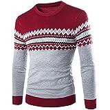 KaloryWee Heißer Herren Herbst Winter Pullover Langarmshirt Warme Strickpullover Langarm Casual Jacke