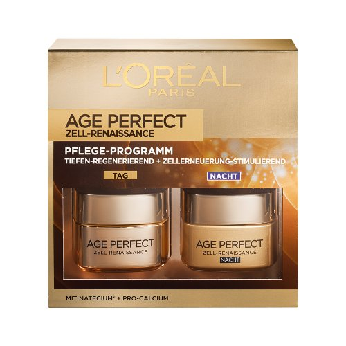 L\'Oréal Paris Age Perfect Zell-Renaissance Tages- und Nachtcreme Coffret, 1er Pack (1 x 2 Stück)