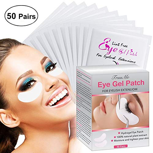 Eye Gel Patches (Wimpernverlängerung Pad, Augenpads, Eye Pads, AugenpadsWimpernverlängerung, GelAugenpads - Hohe Qualität, fusselfrei - Dynamische Passform für Wimpernverlängerung Augenwimper Beauty(50 Paar))