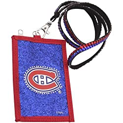 NHL Montreal Canadiens Beaded Lanyard with Nylon Wallet