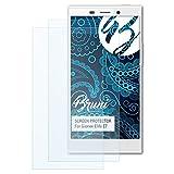 Bruni Schutzfolie kompatibel mit Gionee Elife E7 Folie, glasklare Bildschirmschutzfolie (2X)