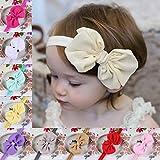 TININNA 10 Stück Baby Mädchen Kinder Chiffon Bowknot Stirnbänder Turban Stirnband Haarband Haarschmuck Kopftuch EINWEG Verpackung