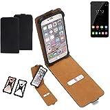 K-S-Trade Flipstyle Hülle Oukitel U11 Plus Handyhülle Schutzhülle Tasche Handytasche Case Schutz Hülle + integrierter Bumper Kameraschutz, schwarz (1x)