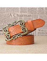 GQFGYYL-PD - Cinturón de Piel con Hebilla de Aguja Retro para Mujer con  Personalidad 9befdf6bfd78