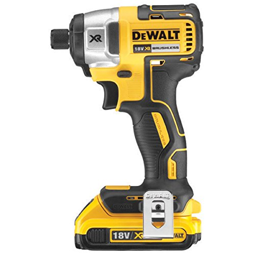 Side view - DeWalt DCF886D2 18V Li-ion Cordless Brushless Impact Driver with 2 x 2Ah Batteries