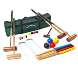 Best Family Croquet Sets - Longworth Croquet Set - 4 Player UPGRADED Full Review