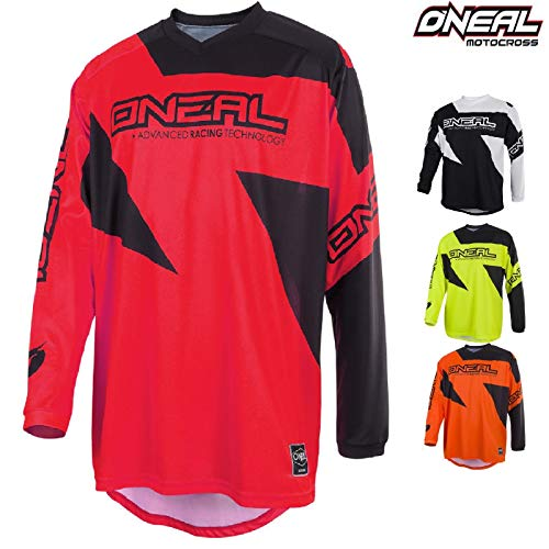Casacca Motocross Oneal Matrix 2019 Adulti MX Jersey Maglia Moto Enduro Fuoristrada Shirt Quad Cross Camicia (Rosso,S)