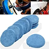 10 Piezas De 12 Cm Azul De Microfibra De Esponja De Espuma