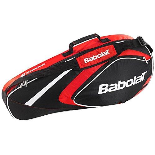 Babolat - Borsa porta racchette X3Club Line, Schlägertaschen Racket Holder X3 Club Line, rosso, 74 x 14 x 33 cm, 22 Liter