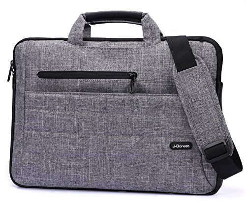 J-Bonest 15,6 Zoll Tragbar Laptop Tasche mit Schultergurt, Tragender Schulter-Beutel Hülle Tasche...
