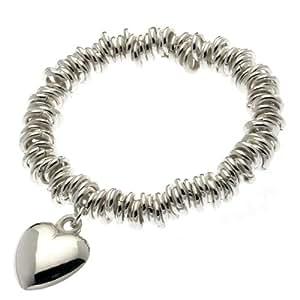 Buckley Heart Charm Stretch Bracelet