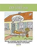 Stier 2018: Sternzeichenkalender-Cartoonkalender als Wandkalender im Format 19 x 24 cm.