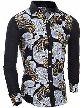 Costura étnico elegante camisa de hombre hombres casual Sau San Polo Shirt