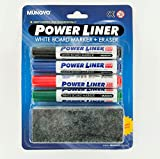 Mungyo Power liner non-toxic White Board Marker with duster - Pack of 4