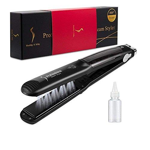 Dampfglätter für Haar, 450F Professional Multi-Funktions-Keramik-Spray-Dampf-Haarglätter Lockenwickler Hair Salon Steam Styler