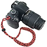 FoRapid Braided 550 Paracord Adjustable Camera Wrist Strap / Bracelet For Mirrorless Compact System DSLR Cameras - B01JGZ45LE