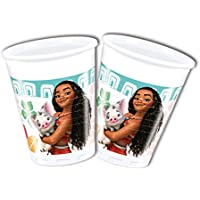 Disney 49767 Moana Party Decoration Cups Plastic, 200 ml -pack of 8
