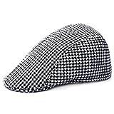 Starter semplice pied-de-poule motivo Outdoor Warm Keeping Golf berretto  piatto Cap casual 11efbe6ea34b