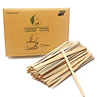 7.5'' Long Beverage Coffee Tea Stir Sticks Stirrers 1000 Count Natural Wooden Collection Stirrer For Hot Drinks
