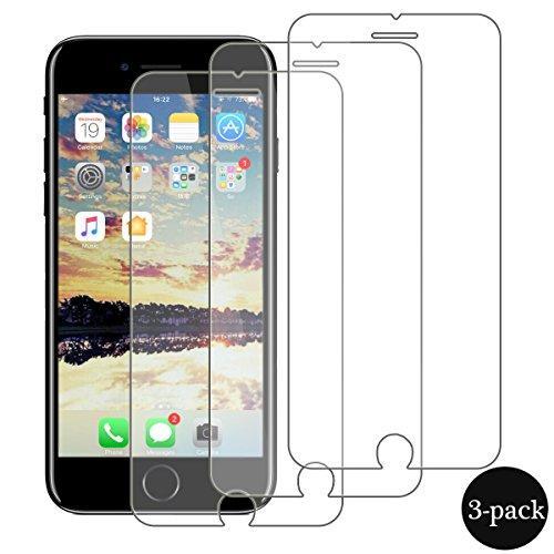 iPhone7 Protector de Pantalla,AimeCerises [3-Unidades] Protector de pantalla de cristal templado de...