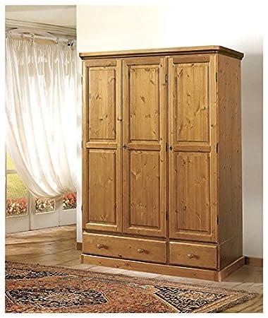 Armadio in legno di pino-Grezzo (Non verniciato): Amazon.it: Casa ...