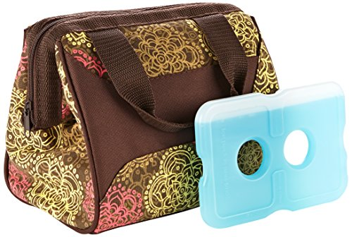 fit-fresh-ladies-downtown-insulated-lunch-bag-with-ice-pack-exterior-pocket-with-zipper-closure-oliv