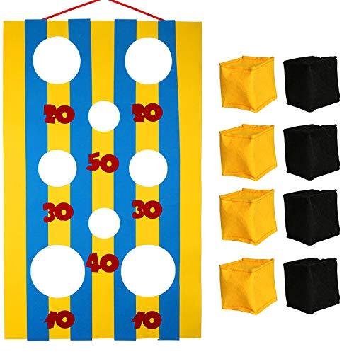OOTSR Sitzsack Wurf Spiele mit 8 Sitzsäcke