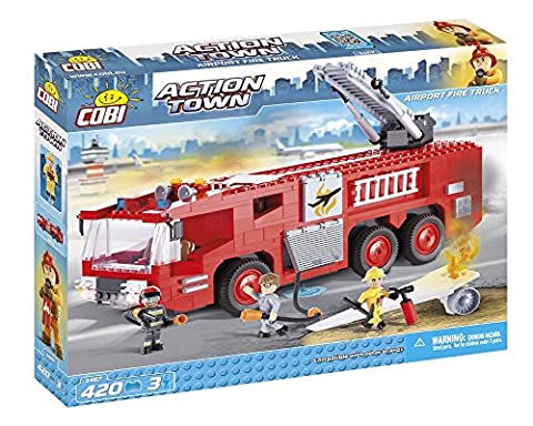 Cobi 1467, ACTION TOWN, Airport Fire Truck, 300 building