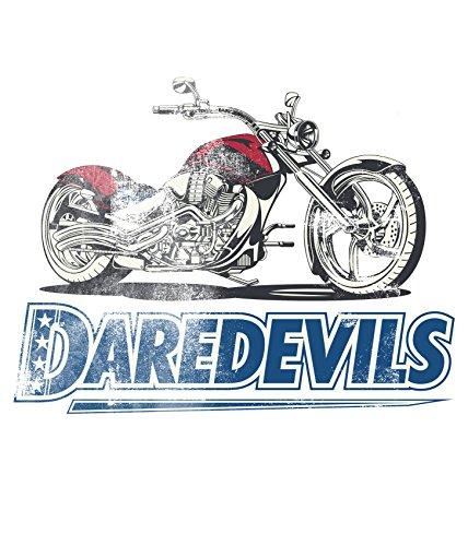 Bedrucktes Herren T-Shirt mit Motiv Daredevils Racing Weiß