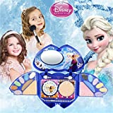 Waroomss Disney 25 Stück Mädchen Kosmetik Spielset mit Spiegel | Waschbar & nicht giftig | Princess Real Makeup Kit mit Etui | Ideales Geschenk für Kinder