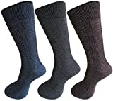 #6: RC. ROYAL CLASS Self Design Woolen socks for Men in assorted colors (pack of 3) winter wear socks