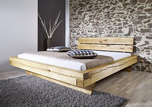 Bett Balkenbett Doppelbett 180×200 cm Wildeiche massiv Balken Schlafzimmer