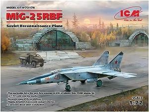 ICM 72174 MiG-25 RBF, Soviet Reconnaissance Plane - Maqueta de avión, Color Gris
